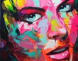 Nielly Francoise – Acrylic on Canvas Painting – Faces 014