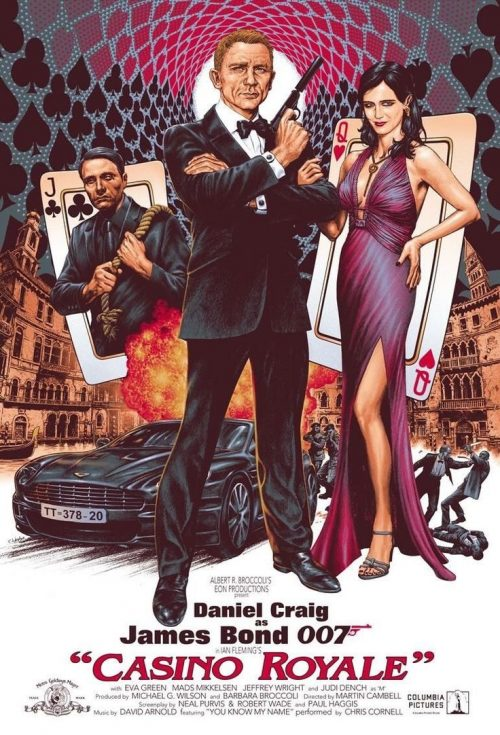 "Vintage style ""Casino Royale"" illustrated key art movie poster commission by comics  ..."