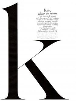 """K"" Letter Typography"