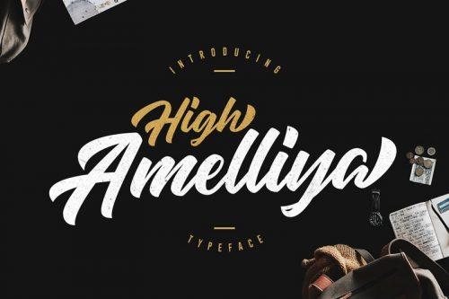 Asset | High Amelliya Font Typeface