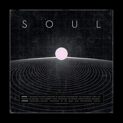 Graphic interpretation of the soul – Black and white