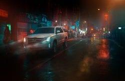 Photography – MP Curtet – Colorful and Dark Cadillac Escalade Photo Shoot 001