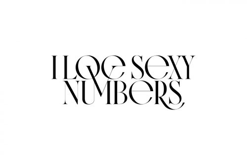 Typography : Caligraphy : Type Design – Kissmiklos – Sexy Numbers 027