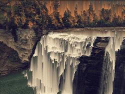 Waterfall Pixel Sorting Design | Photoshop