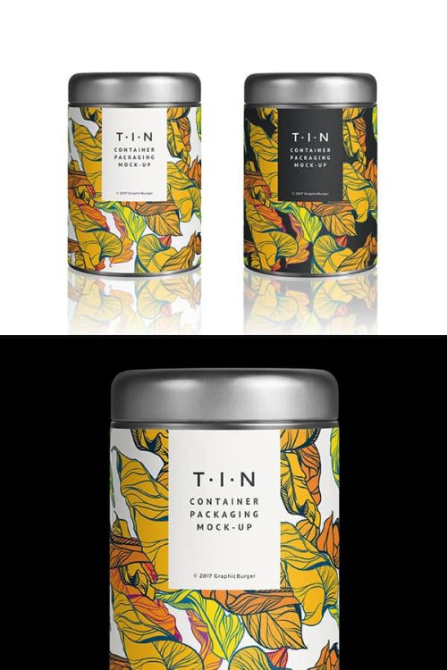 Asset | Tin Container Packaging MockUp