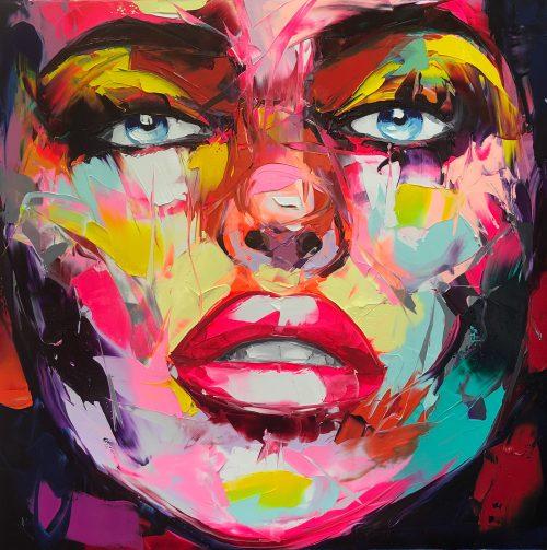 Nielly Francoise – Acrylic on Canvas Painting – Faces 011