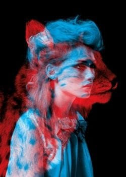 Cheetah Leopard Cat Girl RGB Split Photography