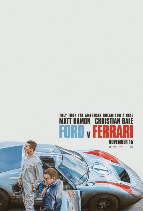 Ford v Ferrari Key Art Movie Poster – Matt Damon, Christian Bale
