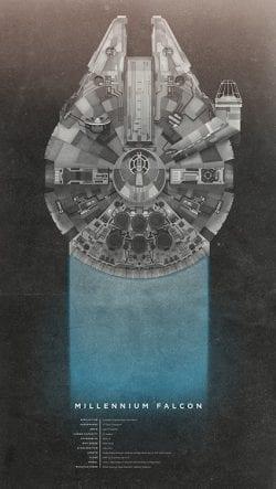 Christopher Paul: Star Wars Millennium Falcon Poster