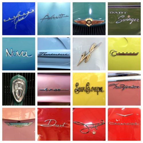 Unique Typography of Classic Cars