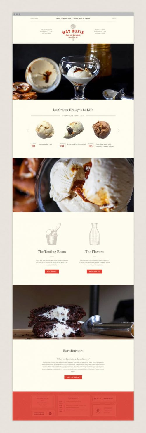 Hay Rosie – Ice Cream Shop Web Design