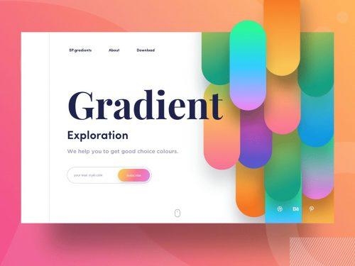 Gradient Exploration Landing Page – UI/UX