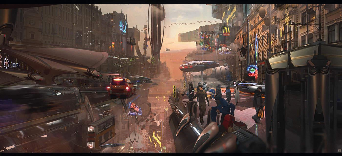 Future Visions – Digital Illustrations on Photoshop 11