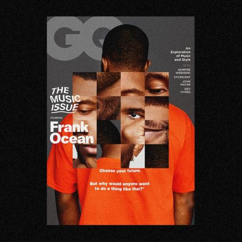 Frank Ocean GQ Cover Redesign by @maxchadwiick