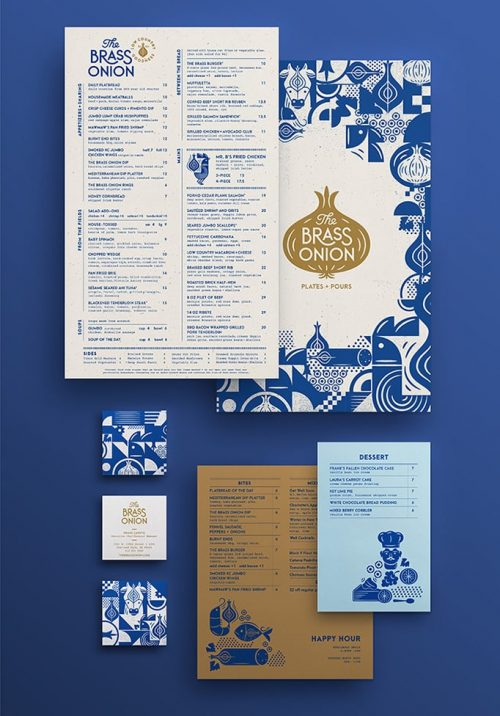 The Brass Onion | Restaurant Menu Design and Branding