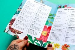 Batinse Restaurant Floral Menu Design 08