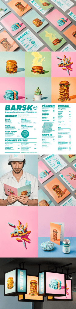 Great Branding for Barsk, Norwegian Burger Restaurant