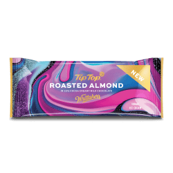 Tip Top Roasted Almond Chocolate Bar Packaging Design