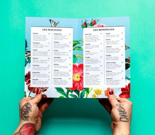 Batinse Restaurant Floral Menu Design 07