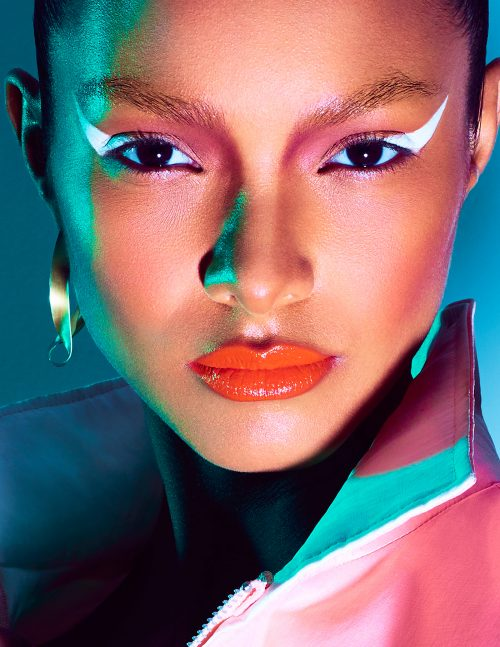 Lais Ribeiro for Numero Magazine Cover Russia – Photography with Gel Lights 07