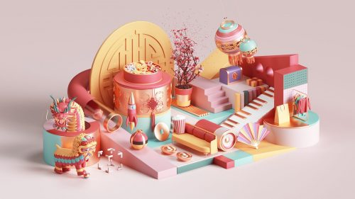 Peter Tarka – Apple Chinese New Year 3D Modeling and Renders 02