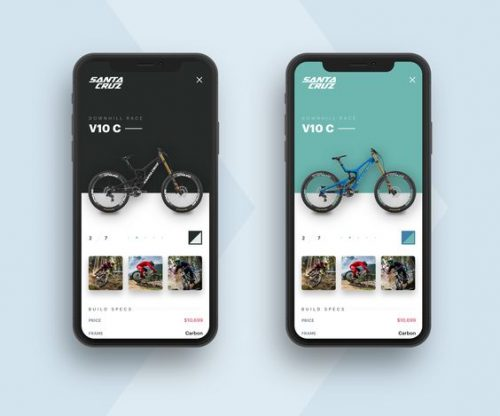 Santa Cruz Bicycles UI UX IOS Webdesign