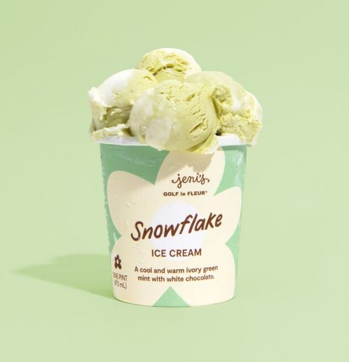 Snowflake Ice Cream packaging design