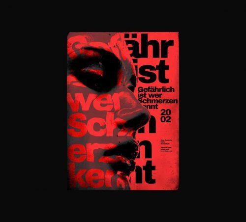 Roman Post – Dark 90s Style Poster Design 01