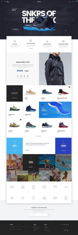 Agora ecommerce web design