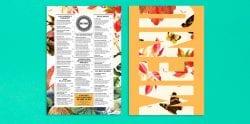 Batinse Restaurant Floral Menu Design 04