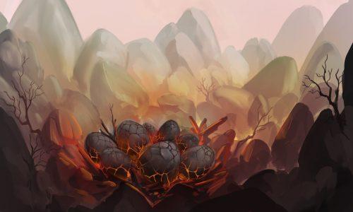 Arnesson Art – Dragon Eggs – Illustration