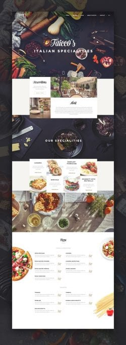 Taicco's Italian Specialties UI/UX Website Webdesign