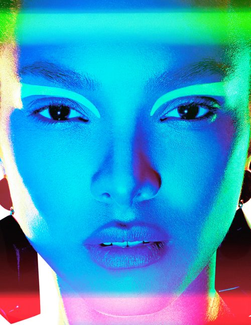Lais Ribeiro for Numero Magazine Cover Russia – Photography with Gel Lights 16