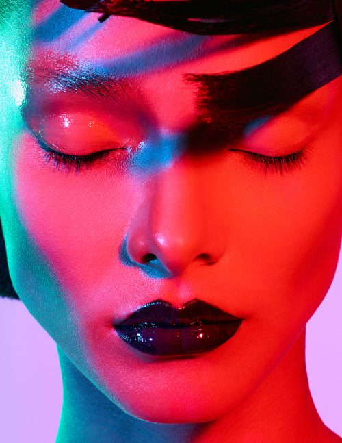 Lais Ribeiro for Numero Magazine Cover Russia – Photography with Gel Lights 06