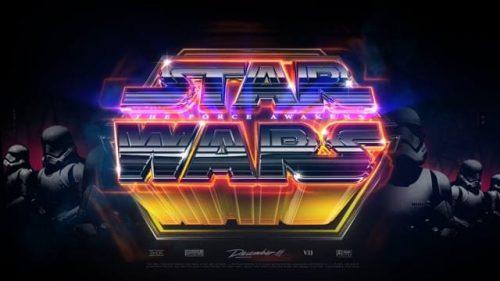 Arkuma Hiyomoto – Star Wars – The force Awakens Logo Title Animation