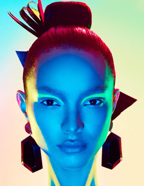 Lais Ribeiro for Numero Magazine Cover Russia – Photography with Gel Lights 17