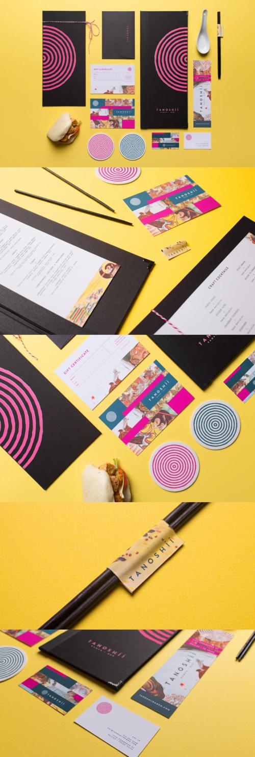 Tanoshii – Ramen Restaurant Branding Design
