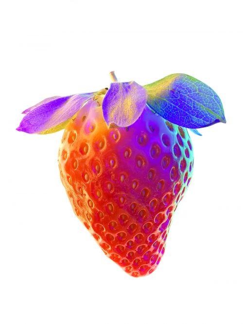 Huawei P30 Pro Usual Macro Photography – Vaporwave aesthetic – Strawberry – 02