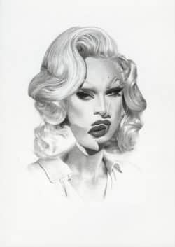 Surreal Black and White Celebrity Portrait Sketches by Nabil Nezzar 03