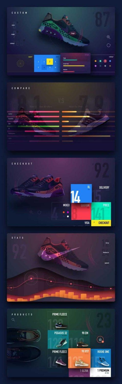Nike90 Store Web Design