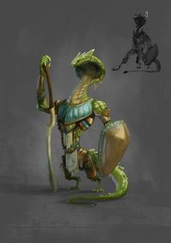 Arnesson Art – Guardian of Wadjet – Character Design