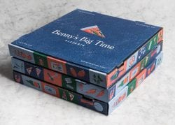 Benny's Big Time Pizzeria Packaging Design