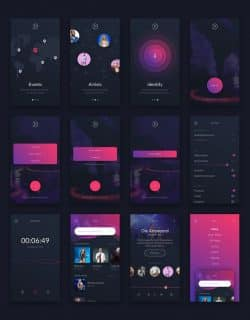 Music UI/UX Mobile App Kit by Creative Form Studio