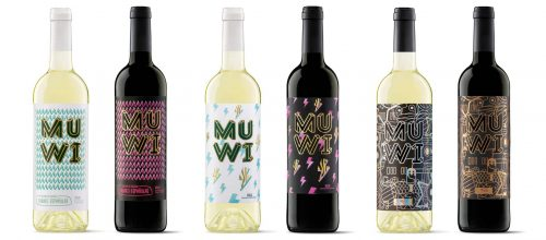 MUWI Patterned Wine Bottle Label Designs