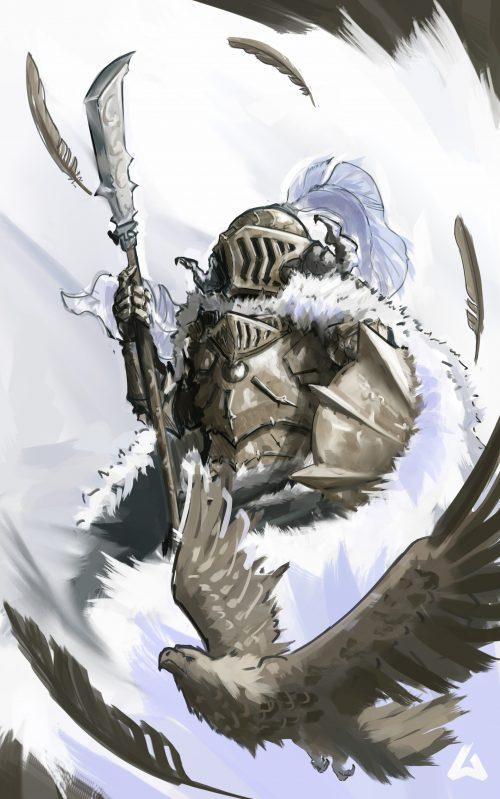 Arnesson Art – Eagle Knight – illustration