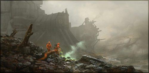 Terraformers – digital painting, Kait Kybar