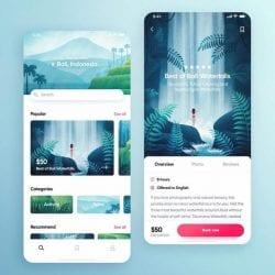 UI/UX Design Illustration – Bali Indonesia