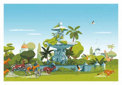 Verbeton: Vegetation, Urban Construction and Animal Illustrations