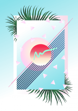 Palm Beach Design, 1983 – Minimal Vaporwave Illustration