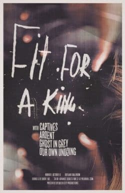 Fit for a King Grunge Graphic Design Poster